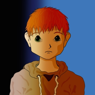 Red Head Sad square